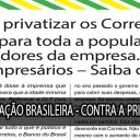 CARTA ABERTA À POPULAÇÃO BRASILEIRA – CONTRA A PRIVATIZAÇÃO DOS CORREIOS!