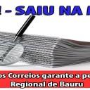 Clipping: Presidente dos Correios garante a permanência da Regional de Bauru