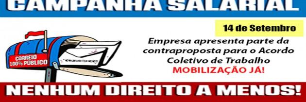 EMPRESA APRESENTA PARTE DA CONTRAPROPOSTA PARA O ACORDO COLETIVO DE TRABALHO – MOBILIZAÇÃO JÁ!