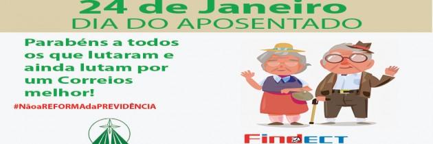 24 DE JANEIRO – UMA HOMENAGEM DO SINDECTEB AOS TRABALHADORES E TRABALHADORAS APOSENTADOS