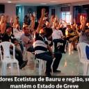Em Assembleia, Trabalhadores e Trabalhadoras Ecetistas de Bauru e região, suspendem a paralisação e mantém o Estado de Greve