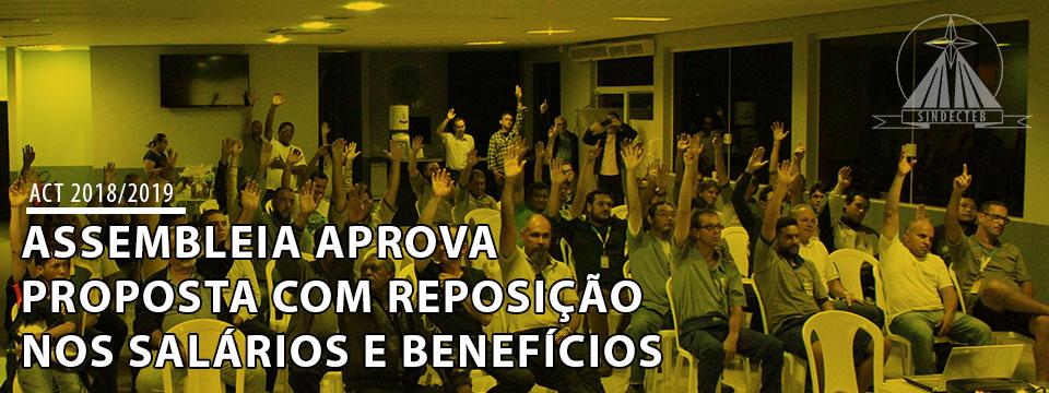 Assembleia aprova proposta com reposição sobre os salários e benefícios