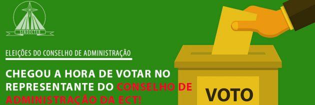 Chegou a hora de votar no representante do Conselho de Administração da ECT!
