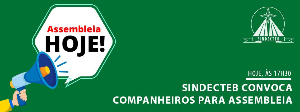 SINDECTEB CONVOCA CATEGORIA PARA ASSEMBLEIA