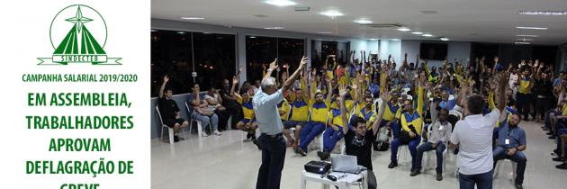 Em assembleia, Trabalhadores aprovam deflagração de greve
