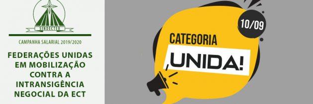 Federações unidas em mobilização contra a intransigência negocial da ECT