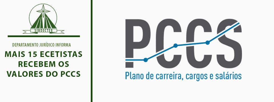 Mais 15 Ecetistas recebem os valores do PCCS