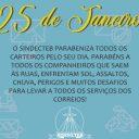 SINDECTEB parabeniza todos os Carteiros do Brasil pelo seu dia