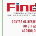 Reunião da FINDECT define calendário de lutas e mobilização