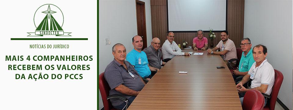 Mais 4 Companheiros recebem os valores da ação do PCCS