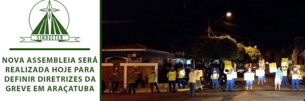 Nova assembleia será realizada hoje para definir diretrizes da greve em Araçatuba