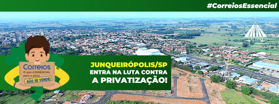 Junqueirópolis: Câmara Municipal apoia nossa luta contra a privatização!
