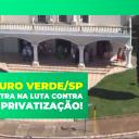 Câmara Municipal de Ouro Verde/SP entra na luta contra a Privatização!