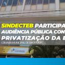 Sindecteb participa de Audiência sobre Privatizações na Câmara de Bauru/SP